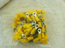 Yellow ElectricTerminal Ring Connector Wire TerminalTongue 100 in a bag RV5.5-5
