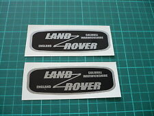 LAND ROVER Solihull Warwickshire England Stickers Blk/Silver - 120mm (Pair)