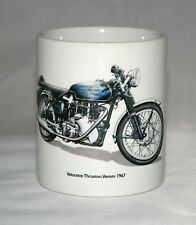 Motorbike Mug. Velocette Thruxton Venom hand drawn illustration.