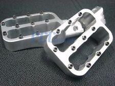 CNC RACING FOOTPEGS FOOT PEGS PIT BIKE XR50 CRF50 SDG SSR SILVER P FP10S
