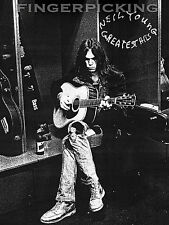 Neil Young Greatest Hits Fingerpicking Guitar Song Book