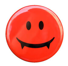 "VAMPIRE SMILEY FACE - Button Pinback Badge 1.5"" Horror"