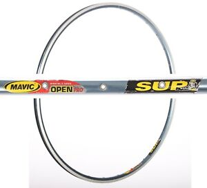 "NOS MAVIC OPEN PRO VINTAGE CLINCHER RIM LIGHT BLUE 28"" 36H HOLES 700c 90s OLD"