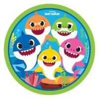 """BABY SHARK PAPER PLATES 9""""(23CM) PACK OF 8 BIRTHDAY PARTY SUPPLIES"""