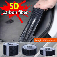 5D Carbon Fiber Car Door Sill Scuff Sticker Rubberl Protector Edge Guard Strip