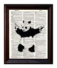 Banksy Panda Street Art - Dictionary Art Print On Authentic Vintage Dictionary