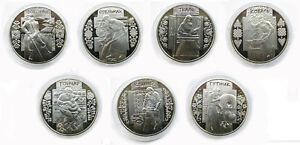 UKRAINE SET 7 pcs COINS 5 UAH HRYVNI UNC CAPSULE TRADITIONAL CRAFTS COIN UNC