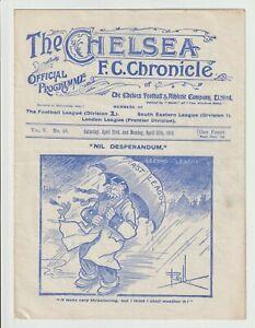 Chelsea V Bury & Arthur Thomas Cup Team Rare Double Issue 1909/1910 - Excellent