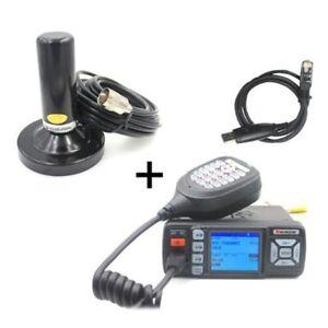 Radio Veicolare  BJ-318  UHF VHF 25W + cavo + antenna magnetica+ usb