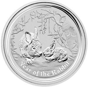 1 Kilo Silber .999 Lunar II Hase 2011 - Originalkapsel