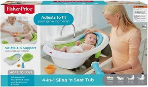 Fisher-Price 4-in-1 Sling N Seat Tub Adjusts To Fit Your Growing Baby Brand New