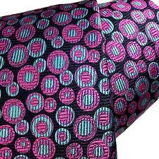 Intense New Rare Robert Talbott Tie Multi-color Geometric Navy Circles 100% Silk