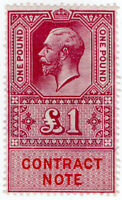 (I.B) George V Revenue : Contract Note £1