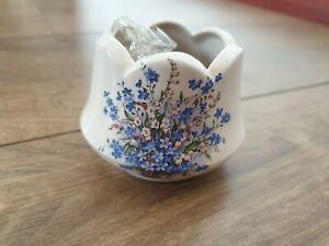 Beautiful Welsh Ceramic Candle Tea light Holder Vintage Floral Cottage Craft