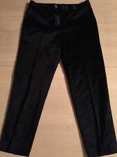 Ralph Lauren Blue Label Shiny Black Skinny Leg Crop Pants Women's Sz 8 NWT $345
