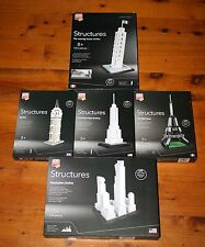 5 Block Tech Structures Architecture Sets MANHATTAN BIG BEN EIFFEL TOWER PISA