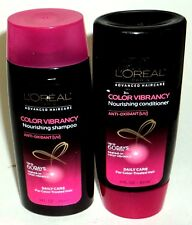 LOREAL Color Vibrancy Nourishing Shampoo & Conditioner Daily Care 3 fl oz ea
