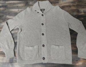 Polo Ralph Lauren RRL Shawl Cardigan Button Up Sweater Cotton Wool Size Medium
