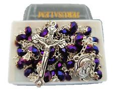 Catholic Deep Purple Jerusalem Crystal Rosary