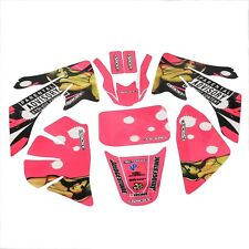 Pink Decal Graphics Sticker Kit for Honda CRF50 PIT PRO Dirt Bike 50cc -125cc