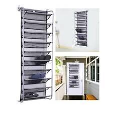 10 Tier 36 Pair Over Door Hanging Shoe Rack Organiser Stand Shelf Holder Storage