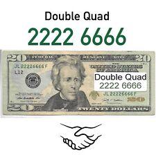 Fancy serial number, Double Quad, Binary, $20 twenty dollar bill