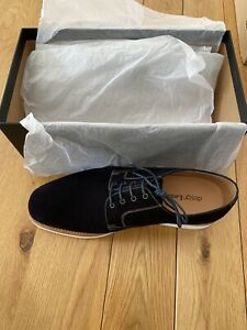 Mens Loakes Navy Suede lace up Shoes Size 8 G