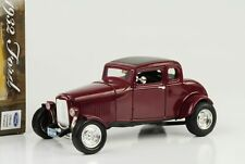 1932 Ford 5 window Hot Rod custom burgundrot metallic 1:18 Motormax