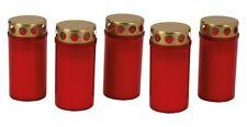 Grablichter 12 Cm In rot mit goldenem Deckel Grab Kerzen Licht