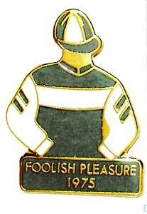 1975 - FOOLISH PLEASURE - Kentucky Derby Jockey Silks Pin