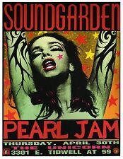Soundgarden laminated art print 895mm X 635mm concert poster Pearl Jam