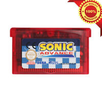 Sonic Advance Game Boy Advance GBA English Console Video Game Play Now !