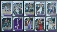 2019-20 Panini NBA Hoops Sacramento Kings Base Team Set of 10 Basketball Cards