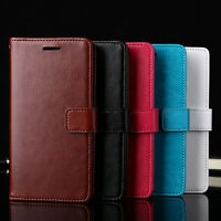 Flip Wallet Card Slot Faux Leather Case Cover for iPhone 7 Samsung S7 Finest