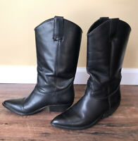 Thom Mcan Women's Black Leather Cowgirl Boots Size 7