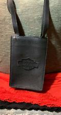 Harley Davidson Geniune Leather Black Pebble Leather Snap Tote Shoulder Bag