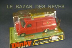 DINKY TOYS GB. FORD TRANSIT pompiers. REF: 271. + Boite.