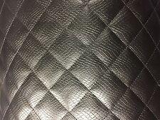 Diamant noir matelassé en cuir synthétique similicuir voiture intérieur vw T4 T5 T25 beetle