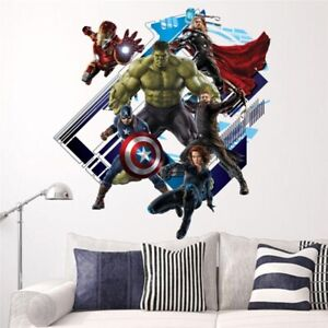 Superhero 3D Bedroom Living Room Wall Decoration Beautiful Movie Sticker Posters