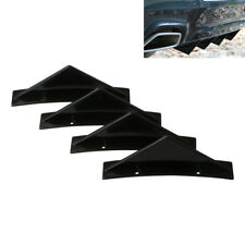 4Pcs Black Curved Car Rear Bumper Addon Lip Diffuser Shark Fin Universal Spoiler