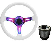 White Neo Chrome TS Steering Wheel + Boss Kit for VW T4 1996 - 2003 045