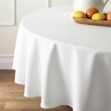 2 x 280x280cm Round Premium Spun Poly Table Cover Thick White Large Table Cloth