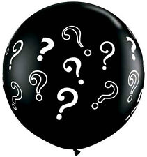 "Qualatex Giant 36"" Inch Black Question Mark Gender Reveal Balloon"
