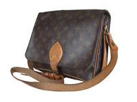 LOUIS VUITTON Cartouchiere GM Monogram Canvas Crossbody Shoulder Bag LS3235