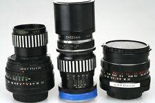 M42: 2,8 / 29 mm Pentacon + Domiplan 2,8 / 50mm + Tamron  4,5 / 135 mm + 2x TC
