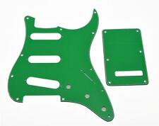 ST Strat SSS Pickguard, Trem Tremolo Cover w/ Screws Pure Green 3 Ply for Fender
