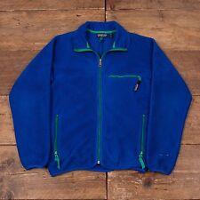 """Vintage pour homme patagonia fermeture éclair veste polaire bleu m 38"""" R4968"""
