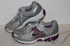 Nike Zm Vomero 5+ Running Shoes, #395850-003, Silver/Ppl/Grey, Womens US 6