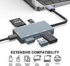 USB Hub 3.0 USB Hub with SD Card Reader (3 USB 3.0 Ports + SD & TF Card Slots)