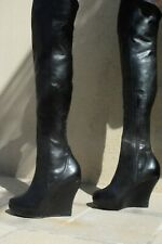 Fabulous over the knee wedge heel platform boots 7.5 UK size As good as new